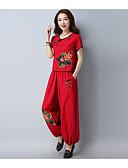 זול שמלות נשים-מכנס פרחוני - סט בגדי ריקוד נשים