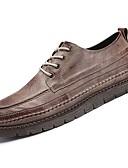 זול טישרטים לגופיות לגברים-נעליים PU סתיו נוחות נעלי אוקספורד ל קזו'אל שחור חום חאקי