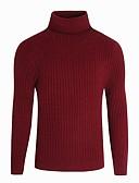 זול טרנינגים וקפוצ'ונים לגברים-צבע אחיד - סוודר שרוול ארוך גולף בגדי ריקוד גברים