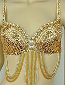 Χαμηλού Κόστους Ρούχα χορού της κοιλιάς-Απόκριες Δερμάτινο περικάρπιο σουτιέν Samba σουτιέν Γυναικεία Πάρτι / Απόγευμα Σέξι Πούλιες Απόκριες Γιορτές / Διακοπές Στολές Μπλε / Χρυσαφί / Φούξια Συνδυασμός Χρωμάτων