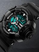 זול פלדת אל חלד-SKMEI שעון יד Chinese לוח שנה / עמיד במים / שעון עצר PU להקה פאר / אופנתי שחור / ירוק / זוהר בחושך