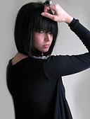 cheap Women's Jumpsuits & Rompers-Human Hair Capless Wigs Human Hair Straight Bob Haircut Natural Hairline Medium Length Machine Made Wig Women's