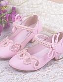 preiswerte Kleider für Mädchen-Mädchen Schuhe PU Frühling Sommer Komfort / Schuhe für das Blumenmädchen / Tiny Heels für Teens High Heels für Rosa