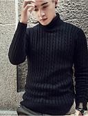 tanie Męskie swetry i swetry rozpinane-Męskie Golf Długie Pulower Solidne kolory Długi rękaw