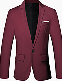 זול גברים-ג'קטים ומעילים-אחיד דש קלאסי רזה בלייזר-בגדי ריקוד גברים,בסיסי / שרוול ארוך / עבודה