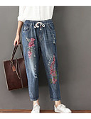 cheap Women's Pants-Women's Jeans Pants - Embroidery Print