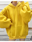 preiswerte Damen Kapuzenpullover & Sweatshirts-Damen Kapuzenshirt Solide Baumwolle