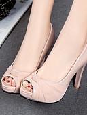 cheap Cocktail Dresses-Women's PU(Polyurethane) Spring / Summer Comfort / Novelty Heels Stiletto Heel Peep Toe Beige / Gray / Pink / Wedding / Party & Evening / Party & Evening