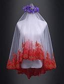 זול הינומות חתונה-שכבה אחת חתונה / ירח דבש הינומות חתונה צעיפי מרפק עם תחרה טול / קלאסי