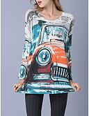 זול סוודרים לנשים-גיאומטרי - סוודר שרוול ארוך שרוול עטלף ליציאה בגדי ריקוד נשים / סתיו / חורף