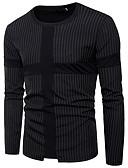 billige T-skjorter og singleter til herrer-Bomull Rund hals T-skjorte Herre - Blomstret Punk & Gotisk / Langermet