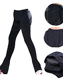 abordables Robe de Patinage-Pantalons de Patinage Artistique Homme Femme Patinage Pantalons / Surpantalons Noir Violet Spandex Entraînement Compétition Tenue de Patinage Graphique Pantalon long Patinage sur glace Multisport