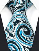זול עניבות ועניבות פרפר לגברים-עניבת צווארון - קולור בלוק פייסלי סרוג חוטי זהורית עבודה בסיסי בגדי ריקוד גברים