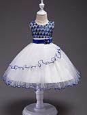 hesapli Çocuk Nedime Elbiseleri-Kız Doğumgünü Dışarı Çıkma Pamuklu Polyester Lüks Yaz Kolsuz Elbise Sevimli Günlük Havuz Altın Yonca Fuşya