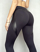 cheap Leggings-Women's Sporty Legging Solid Colored High Waist