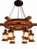 זול טישרטים לגופיות לגברים-6-אור תַעֲשִׂיָתִי מנורות תלויות תאורה כלפי מטה גימור צבוע עץ / במבוק עץ / במבוק סגנון קטן 110-120V / 220-240V נורה אינה כלולה / FCC / E26 / E27
