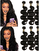 cheap Women's Two Piece Sets-3 Bundles Brazilian Hair Body Wave Virgin Human Hair Natural Color Hair Weaves / Human Hair Extensions 10-28 inch Human Hair Weaves Natural Color Human Hair Extensions
