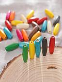 abordables Bufandas de Mujer-Joyería DIY 30 PC Cuentas Compuestos de madera y plástico Arco Iris Redondo Talón 0.8*0.23 cm DIY Gargantillas Pulseras y Brazaletes