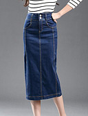 ieftine Fuste de Damă-Pentru femei Bodycon Fuste - Mată, Stil modern Denim