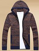 זול בגדי ים לגברים-אחיד - קרדיגן ארוך שרוול ארוך עם קפוצ'ון בגדי ריקוד גברים