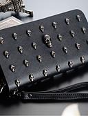 זול טרנינגים וקפוצ'ונים לגברים-בגדי ריקוד נשים שקיות PU ארנקים רוכסן שחור