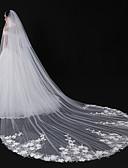 זול הינומות חתונה-שתי שכבות סגנון מודרני / אביזרים / סגנון פרח הינומות חתונה צעיפי סומק / צעיפי קפלה עם אפליקציות טול / חיתוך זווית / מפל / אפליקצית קצה תחרה