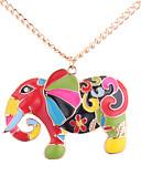 baratos Vestidos Longos-Mulheres Colares com Pendentes - Elefante Europeu, Fashion, Colorido Dourado Colar Para Diário