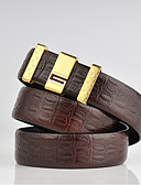 cheap Men's Ties & Bow Ties-Men's Work Leather Alloy Waist Belt - Solid Colored