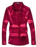 billige Todelt dress til damer-Silke Skjorte Herre - Ensfarget Bohem Klubb