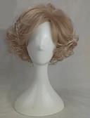 billige Nattøy til damer-Syntetiske parykker Bølget Blond Syntetisk hår Blond Parykk Medium Lengde Lokkløs Blond