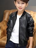 povoljno Jakne i kaputi za dječake-Dijete koje je tek prohodalo Dječaci Ležerne prilike Dnevno Jednobojni Dugih rukava Normalne dužine PU Odijelo i sako Crn