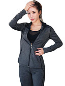 cheap Women's Nightwear-Women's Triathlon Tri Suit - Dark Gray Sports Triathlon / Tri Suit Outdoor Exercise, Running, Jogging Long Sleeve Activewear Quick Dry,