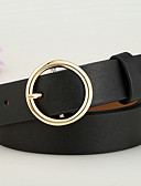 cheap Fashion Belts-Women's Work Leather Waist Belt - Solid Colored
