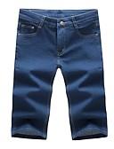baratos Calças e Shorts Masculinos-Homens Básico Jeans / Shorts Calças - Sólido