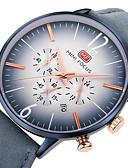 זול עור-MINI FOCUS בגדי ריקוד גברים שעון יד Japanese שעון עצר / שעונים יום יומיים / מגניב עור אמיתי להקה יום יומי / מינימליסטי שחור / כחול / חום / מתכת אל חלד