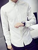 זול חולצות לגברים-אחיד כותנה, חולצה - בגדי ריקוד גברים / שרוול ארוך