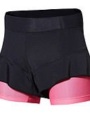 baratos Relógio Esportivo-SANTIC Mulheres Bermudas Acolchoadas Para Ciclismo Moto Calças Clássico Preto / Rosa Roupa de Ciclismo