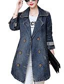 povoljno Traper jakne-Farmerkabátok Veći konfekcijski brojevi Žene Izlasci Jednobojni Osnovni Pamuk
