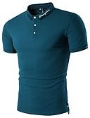 זול בלייזרים וחליפות לגברים-אותיות צווארון חולצה כותנה, Polo - בגדי ריקוד גברים