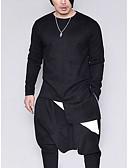 זול טישרטים לגופיות לגברים-אחיד צווארון עגול פאנק & גותיות מועדונים טישרט - בגדי ריקוד גברים כותנה