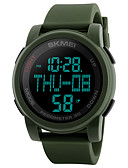 cheap Men's Tees & Tank Tops-SKMEI Men's Sport Watch / Military Watch / Digital Watch Japanese Alarm / Chronograph / Water Resistant / Water Proof Silicone Band Casual / Fashion Black / Green / Stopwatch