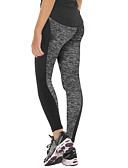 cheap Panties-Women's Patchwork Yoga Pants - Black, Gray Sports Sexy High Rise Tracksuit Running, Fitness, Gym Activewear Thermal / Warm, Moisture Permeability, High Breathability (>15,001g) Stretchy / Breathable