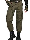 זול מכנסיים ושורטים לגברים-בגדי ריקוד גברים פשוט / קלסי ונצחי ישר / מכנסיים מכנסיים - אחיד / צבע אחיד סגנון פורמלי ירוק צבא / אביב / סוף שבוע