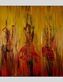 זול שמלות נשים-ציור שמן צבוע-Hang מצויר ביד - מופשט מודרני בַּד