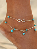 cheap Quartz Watches-Turquoise Anklet - Infinity Double Layered, Bohemian, Fashion Gold / Silver For Gift / Going out / Bikini / Women's