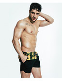 זול בגדי ים לגברים-דפוס חלקים תחתונים פשוט בגדי ריקוד גברים