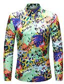 זול חולצות לגברים-קשת בוהו כותנה, חולצה - בגדי ריקוד גברים / שרוול ארוך