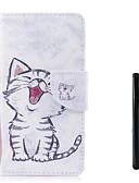 זול טישרטים לגופיות לגברים-מגן עבור Huawei P10 Plus P10 Lite מחזיק כרטיסים ארנק נפתח-נסגר כיסוי מלא חתול קשיח עור PU ל P10 Plus P10 Lite P10 Huawei P9 Lite Huawei