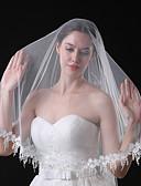 זול הינומות חתונה-שכבה אחת סגנון מודרני ירח דבש נסיכות סגנון מינימליסטי חתונה הינומות חתונה צעיפי מרפק עם גדילים (פרנזים) שחבור תחרה טול