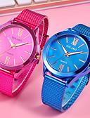 baratos Quartz-Mulheres Relógio de Moda Relógio de Pulso Quartzo Preta / Azul / Vermelho Relógio Casual Analógico senhoras Fashion - Rosa Vermelho Azul